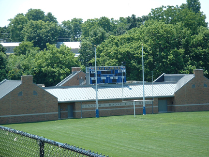 view of football field and goals